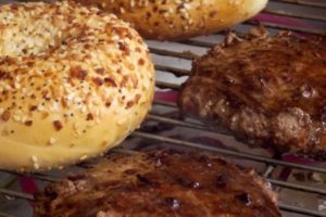 bagels-and-burgers-on-electric-grill