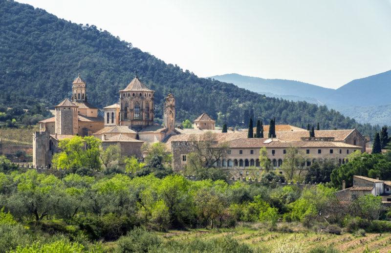 Monastery of Santa Maria de Poblet, Catalonia, Spain overviewMonastery of Santa Maria de Poblet, Catalonia, Spain overview