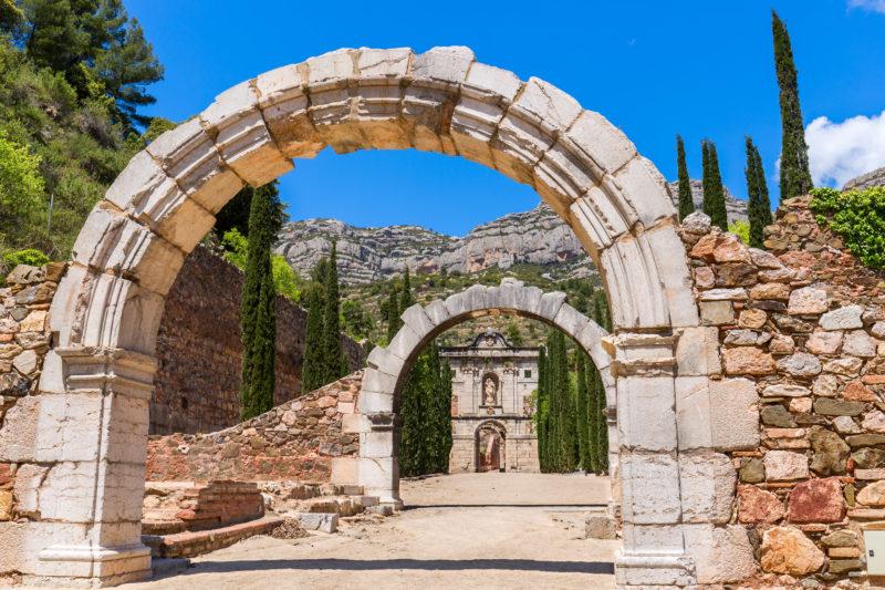 Ruins of Scala Dei, a medieval Carthusian Monastery in Catalonia