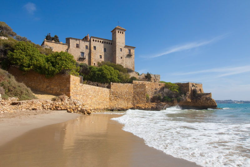 Castle of Tamarit on the Tarragona coast, Catalonia.