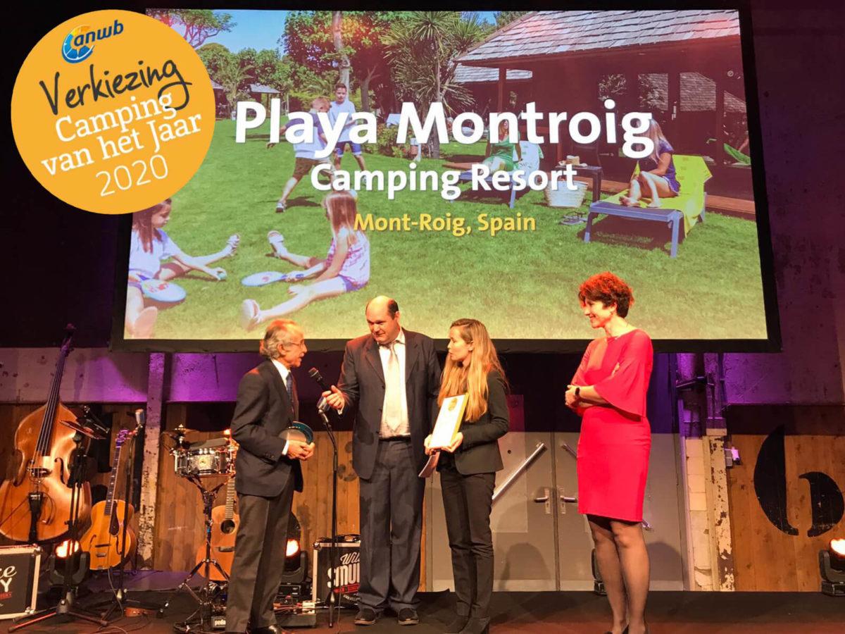 entrega del premio al mejor camping de europa en la gala amwb